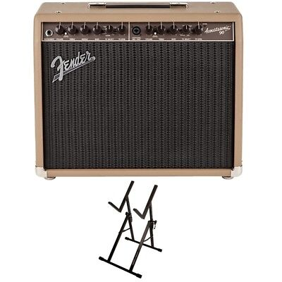 Fender Acoustasonic 90 1x8 Acoustic Guitar Combo Amp + Ultimate Support Stand