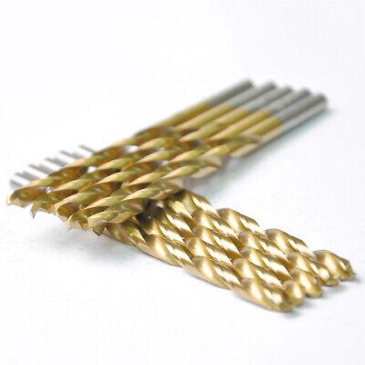 Drillforce 10pcs 532 Titanium Drill Bits Set Hss Metal Woodworking Drill Bit