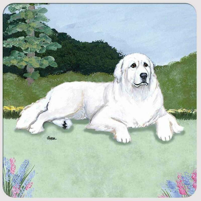 Great Pyrenees Coasters - Set of 4