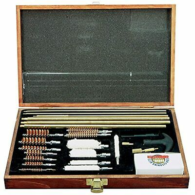 Gunmaster 42 Piece Universal Cleaning Kit Wood Case Hunting And Maintenance &