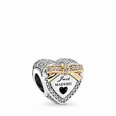 AUTHENTIC PANDORA Wedding Heart Charm, Clear (Bridal Charm)