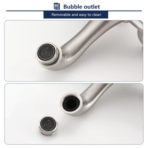 4'' Bathroom Vessel Sink Faucet 3 Holes 2 Handles Basin Mixer Tap W/Pop up Drain 9