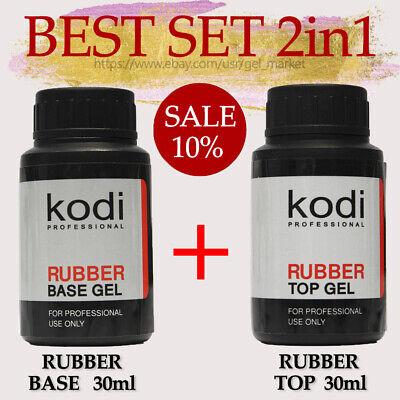 BEST SET! Kodi Professional BASE 30ml. + TOP 30ml. Gel LED/UV Rubber Nail (Best Gel Base And Top Coat)