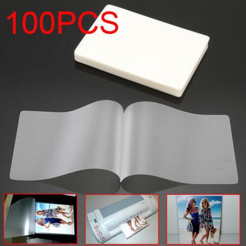 """100 sheets Laminating Pouches Laminator Sheets 2.59 x 3.77"""""""