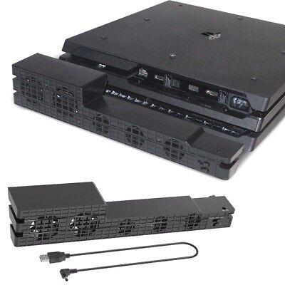 BLACK PS4 Pro Console External USB Super Cooling Fan - Turbo Cooler System