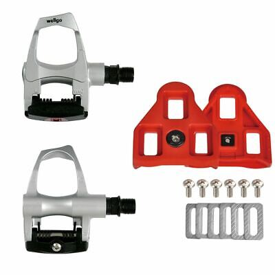 New Wellgo RC-5 RC5 Bike Clipless Pedal Cleat Look for ARC Float 9° Degree RED