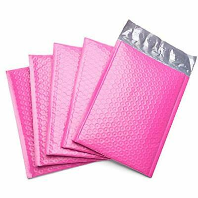 50 Pcs Poly Bubble Mailer Pink Self Seal Padded Envelopes Self-Stick Stamps 4x8
