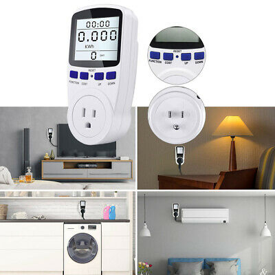 Smart Digital Power Monitor Wattmeter Plug Socket Volt Wattage Kwh Price Meter