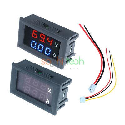 Dual Led Dc Digital Display 10a 100v Ammeter Voltmeter Lcd Panel Amp Volt Meter