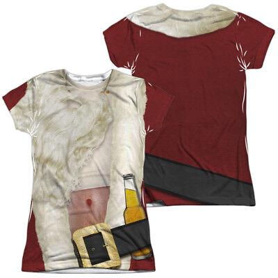 BAD SANTA COSTUME Women's Junior Graphic Tee Shirt SM-2XL Halloween  (Bad Santa Halloween Costume)