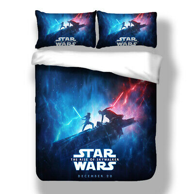 Star Wars Duvet Quilt Cover Galaxy Bedding Set Pillowcases Single Double King 3D