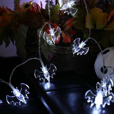 (2 sets) 2M 20 LED Halloween Lot Bat String Lights Party Decor Lights U.S.