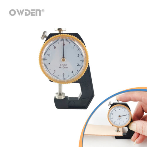 OWDEN Leather Dial Thickness Gauge Measure Tool Precise Micrometer-Tester 0-10mm