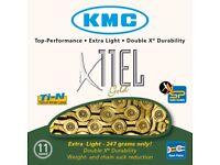 KMC X11-EL Gold 11speed Bike Chain - Road Or MTB
