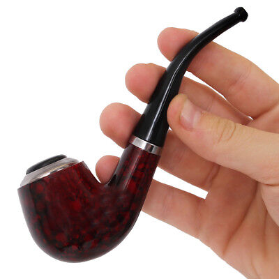 WOOD LOOK SMOKING PIPE SAILOR CAPTAIN FANCY DRESS COSTUME ACCESSORY OLD MAN