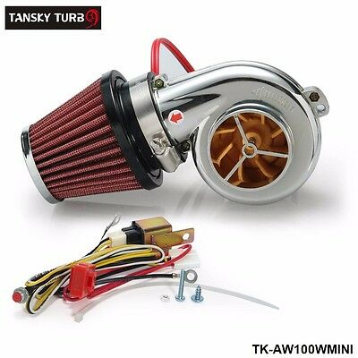 Turbo Kit Mini Electric Supercharger Air Filter Intake for All Racing Car  Bike