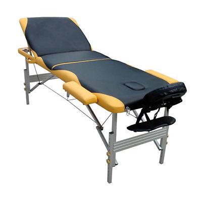 Massageliege Massagetisch Aluminium Massagebank 3 Zonen klappbar mobil Liege