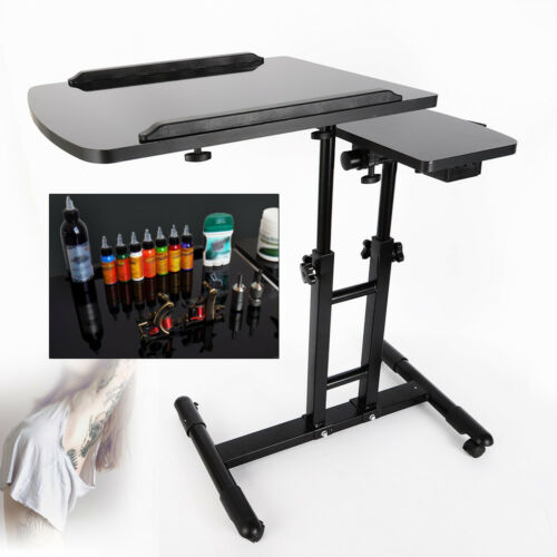 Dual Countertop Tattoo Workbench Black Arm Rest Stand Table
