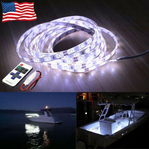 16.4ft Waterproof LED Marine Boat Yacht Deck Bow Pontoon Navigation Light Green