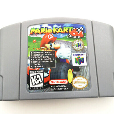 Used, 7 NES GAMES N64 Collection Game Cartridge Card For Nintendo 64 -US version for sale  China