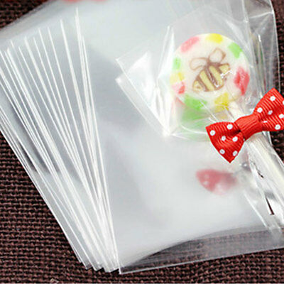 100pcs Cake Pop Lollipop OPP  Bags Baking Chocolate Pop Pack Bags Sealing wire