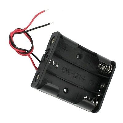 2x Plastic Battery Storage Case Box Holder For 3xaa 3 X Aa 4.5v With Wire Leads