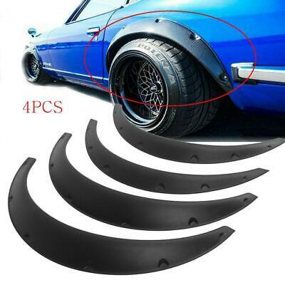 4*Universal Fender Flares Black Durable Flexible Polyurethane Car Body Kit