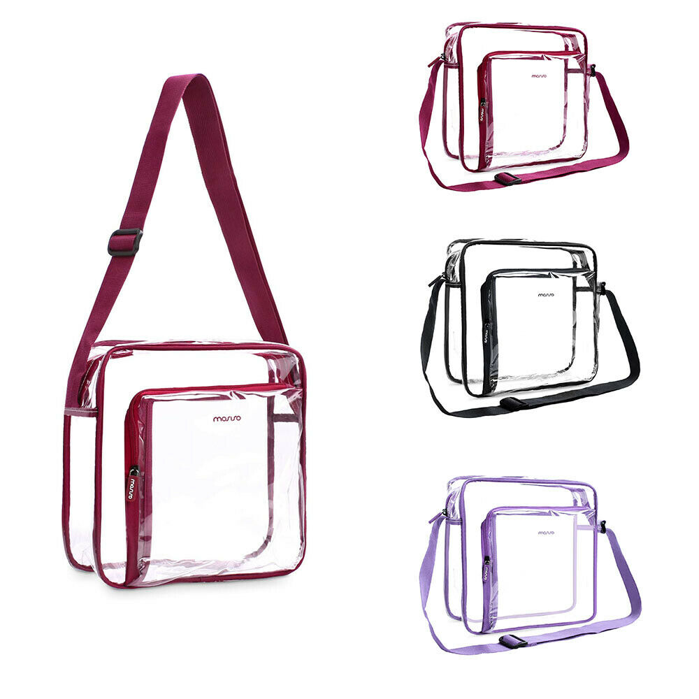 Clear Crossbody Bag PVC Transparent Waterproof Shoulder Bag