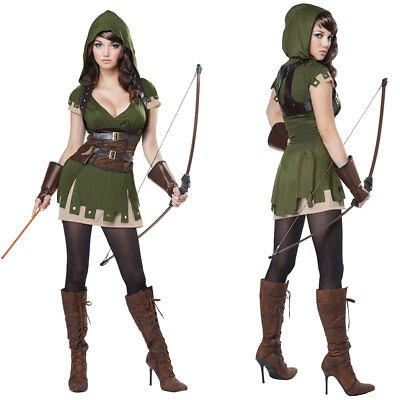 Womens Lady Robin Hood Halloween Costume