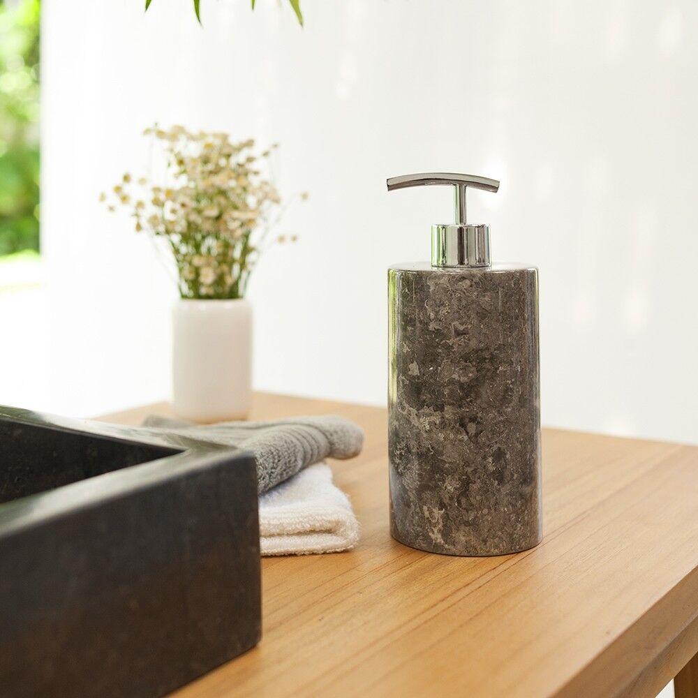 Naturstein Marmor-Seifenspender 15 cm Seifendosierer Flüssig-Seife wohnfreuden