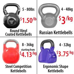 Round Vinyl Coated Russian Style Steel Competition Ergonomic Shape Adjustable Kettlebell Kettlebells