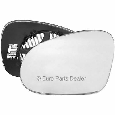 Passenger side Clip on heated wing door mirror glass for VW Golf mk5 2003 2008