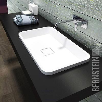 Design Einbauwaschbecken Einbau- Waschbecken PB2129 Waschtisch Mineralguss Stein