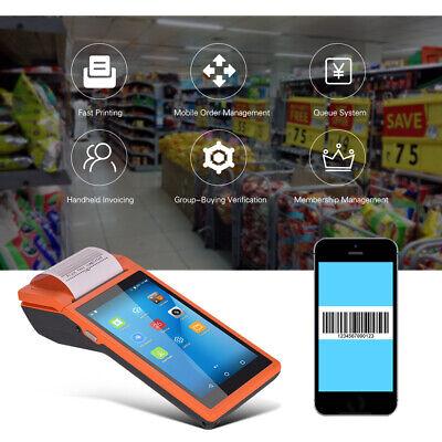 5.5 Inch Android Smart Mobile Pos Terminal Bluetooth Receipt Printer 1pcs R1u8