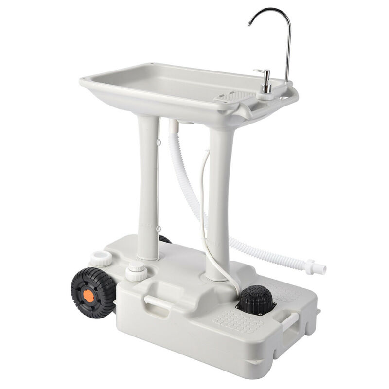 30L Portable Handwash Stand Oversize HDPE Camping Sink Water Tank Picnic