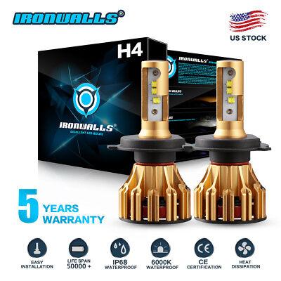 2x H4 9003 HB2 1900W 285000LM CREE LED Headlight Conversion Bulb Kit Hi/Lo 6000K