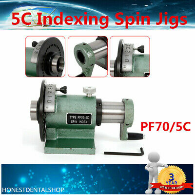 Pf705c Collet Spin Indexing Fixture For Grinders Milling Machines
