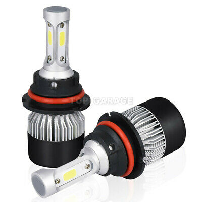 2PCS 9004 HB1 LED Headlight Bulbs High Low Dual Beam For Ford Mustang 1990-1993 Ford Mustang Dual Led