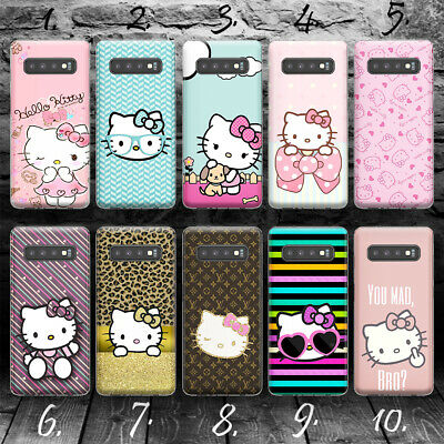 HELLO KITTY A SILLY CAT Hülle Samsung S7 S8 S9 S10 S10E Edge + plus case cover - Hello Kitty Case Cover
