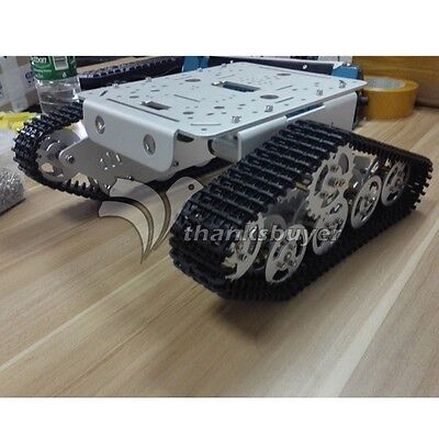 Tank Track Caterpillar Car Chassis Metal Tracked Crawler Robotic For Diy T300