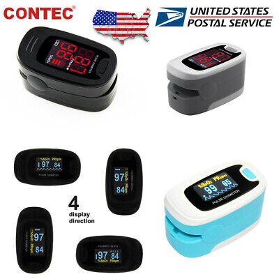 Pulse Oximeter Finger Blood Oxygen Saturation Spo2 Heart Rate Patient Monitor Us