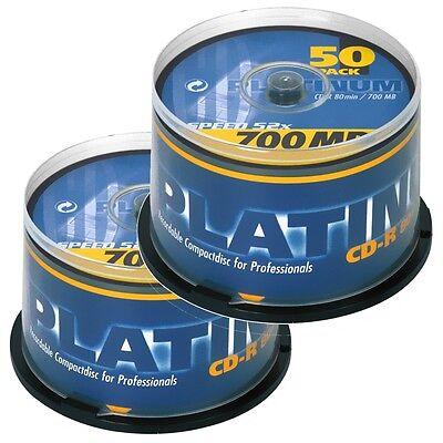 Bestmedia Platinum CD-R700 CD-Rohling 80min 700MB 52x, 100er in 2x 50er Spindeln