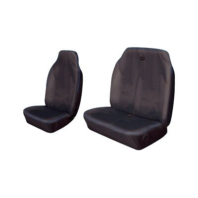 Heavy Duty Van Seat Covers Protectors Black With Blue Piping Nissan Primstar