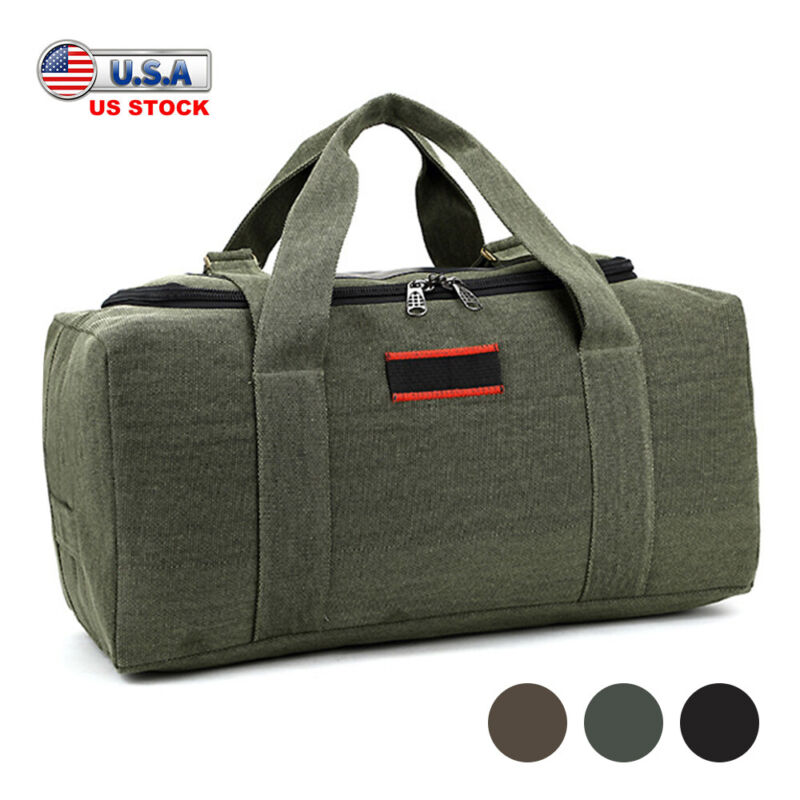 40L 69.5L Mens Military Canvas Duffle Bag Travel Camping Trekking Luggage Bag
