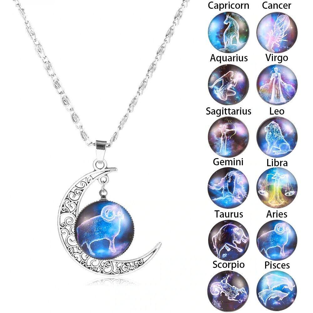 Jewellery - ASTROLOGY MOON ZODIAC NECKLACE JEWELRY Jewelry HOROSCOPE Xmas GIFT