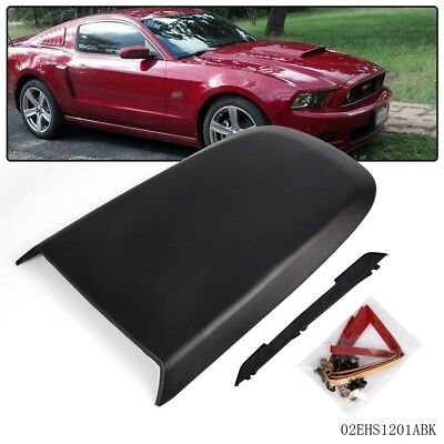 For Ford Mustang GT V8 2005-2009 Black Front Racing Style Air Vent Hood (Black Hood Scoop)