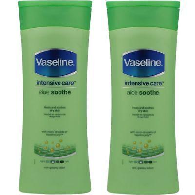 Vaseline Intensive Care Bodylotion Körperlotion Aloe Soothe 2 x 400 ml Set