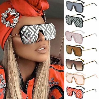Men Women Sunglasses Celebrity Fashion Shades Coating Square Oversize Flat Lens New Ladies Celebrity Fashion
