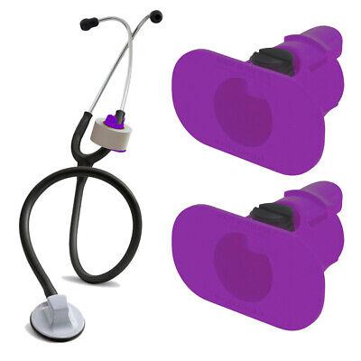 2 Pack Purple S3 Stethoscope Tape Holders - Littman Nursing Scrubs Ems Emt