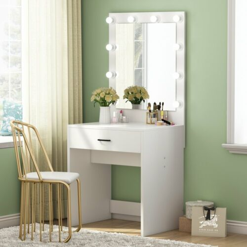 Dressing Table With Mirror Led Lights